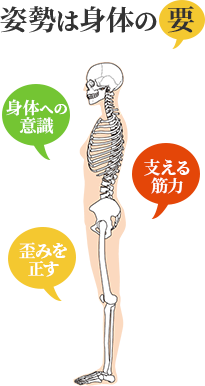 姿勢は身体の要